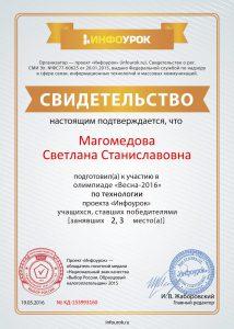Свидетельство проекта infourok.ru № KД-153993160 о подготовке победителей Мальчиков