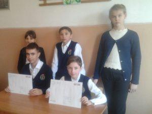 Со своими письмами ученики 6-а класса Пантелеев Никита и Дрябрин Валентин