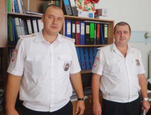 Инспектора ГИБДД Бычков Александр Алексеевич и Суханов Артем Юрьевич
