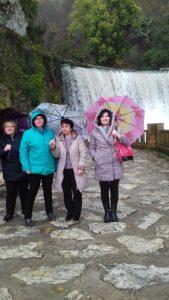 На водопаде в Пицунде
