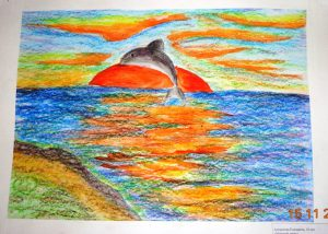 Рисунок Антроповой Елизаветы Черное море