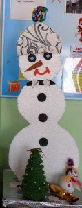 Снеговик из пенопласта 1 класс